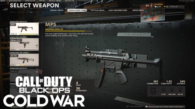New COD Cold War patch mistakenly gives MP5 too much power, again